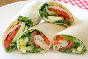 Chicken Avocado Wrap and more recipes