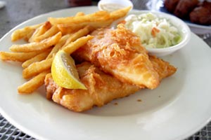 Traditional english fish and chips recipe from cdkitchen for British fish and chips recipe