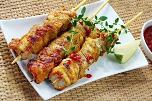 Grilled Shrimp Satay With Ginger And Lime & Peanut Sauce Recipe from ...