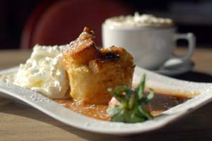 Cinnamon Roll Bread Pudding With Hot Buttered Rum Sauce and more recipes