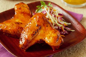 Honey Glazed Chicken Wings and more recipes