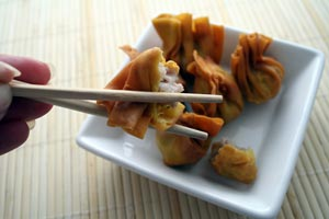 Crab Wontons With Asian Slaw and more recipes