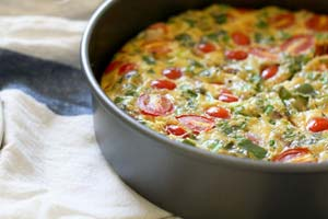 Baked Arugula Omelet and more recipes