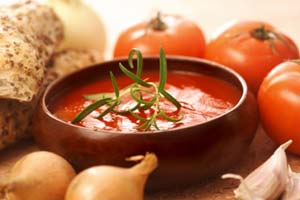 Saks Fifth Avenue Tomato-Basil Bisque and more recipes