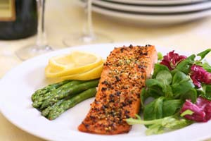 Slow Roasted Salmon with Brown Rice and Cucumber Yogurt and more recipes