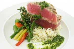 Ahi Katsu With Wasabi Ginger Butter Sauce and more recipes