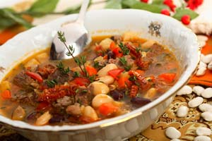 Carrabba's Spicy Sausage Lentil Soup and more recipes