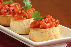 Bruschetta With Tomatoes And Fresh Mozzarella Cheese and more recipes