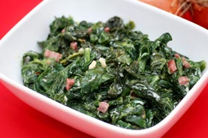 Espinaca A La Catalana (Sauteed Spinach With Pine Nuts And Golden Raisins) and more recipes