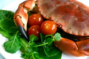Creole Spiced Blue Crabs With Green Onion Dipping Sauce and more recipes