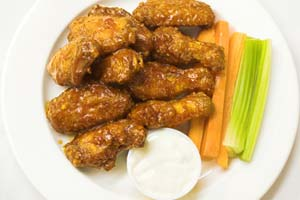 Battered Chicken Wings and more recipes