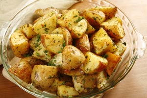 Greek Roasted Potatoes and more recipes