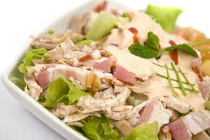 Almond-Chicken Pear Salad and more recipes