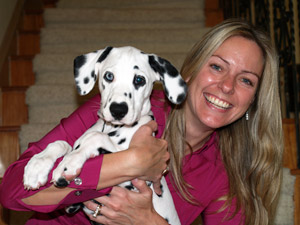 Valerie Whitmore and Widget the Dalmatian