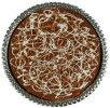Delicious Caramel Brownie Pizza Pie topped with pecan bits