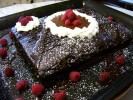 Photo of Dark Chocolate And Raspberry Layer Cake