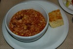 Southwestern Chicken Chili with cornbread