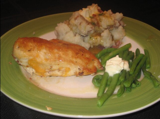 Bacon and Cheese Stuffed Chicken Recipe | CDKitchen.com