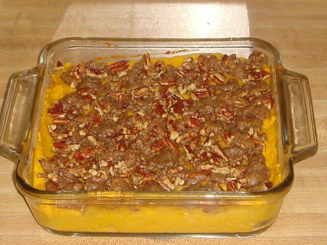 Maple Smashed Sweet Potato Bake with Spiced Pecan Streusel Recipe from ...