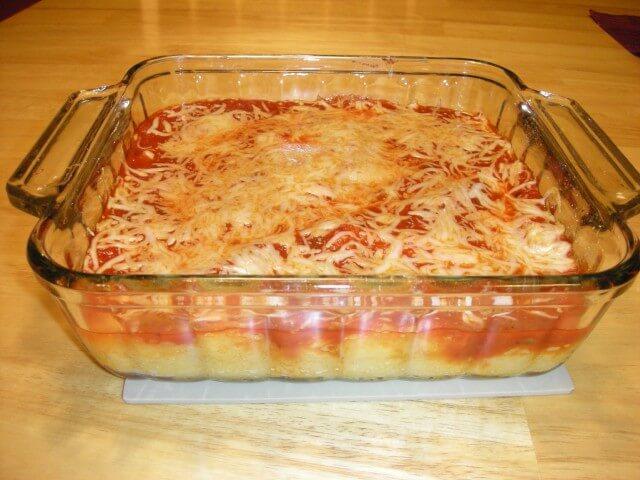 ... parmesan polenta grilled polenta with marinara parmesan and basil