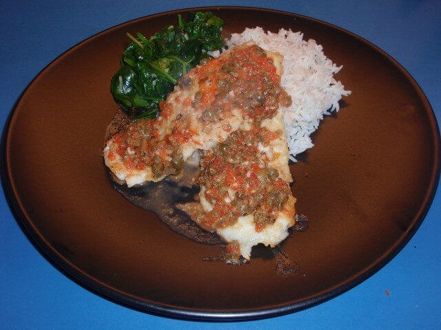 Pan Fried Tilapia With White Wine And Capers Recipe from CDKitchen