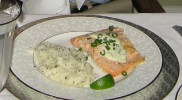 Photo of Baked Salmon With Lime, Jalapeno Chive And Sour Cream Sauce