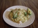 Angel hair pasta w/garlic shrimp & broccoli by valentina