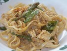 Cajun Chicken Fettuccine with Sugar Snap Peas
