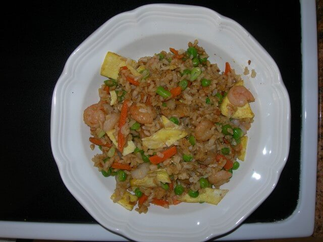 P.F. Chang's Shrimp Fried Rice Recipe from CDKitchen