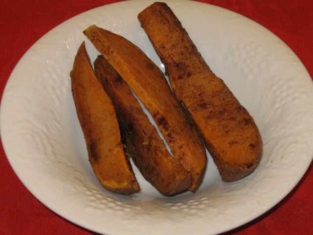 Roasted Sweet Potato Wedges Recipe from CDKitchen