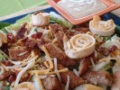Photo of Fried Chicken Salad With Cheesy Tortilla Spirals Recipe on CDKitchen