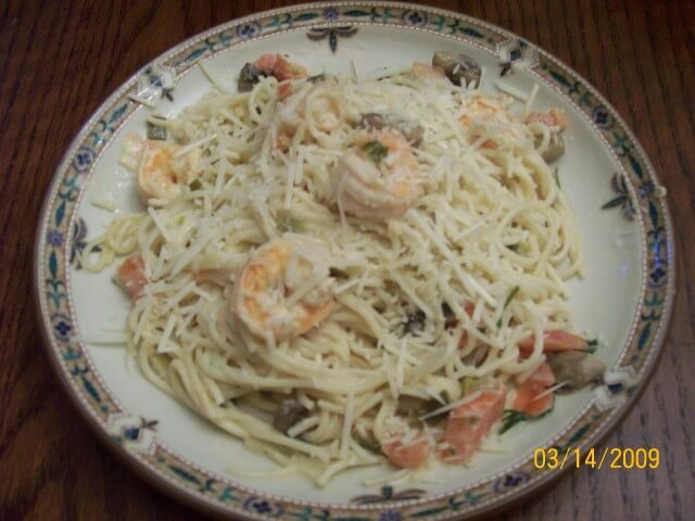 featured recipe: Champagne Shrimp and Pasta