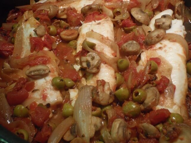 Tilapia With Olive Tomato Sauce Recipe from CDKitchen