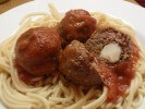Photo of Cheese Stuffed Meatballs And Spaghetti