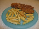 Captain Crunch Chicken with Golden Fries