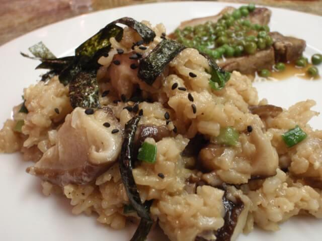 shiitake mushrooms risotto with leeks shiitake mushrooms and truffles ...