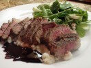 Photo of Espresso Rubbed New York Steak With Caramel Bourbon Sauce