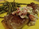 Photo of Grilled Steak With Tomato And Blue Cheese Salsa