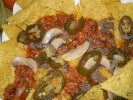Corn Chips With ground Lean Beef & Tomato Salsa Toppings