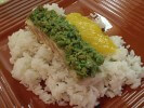 Photo of Wasabi Pea Crusted Ono with Mango Coulis and Coconut Rice Recipe on CDKitchen