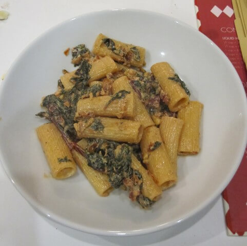 Rigatoni With Goat Cheese, Sun-Dried Tomatoes And Kale Recipe ...