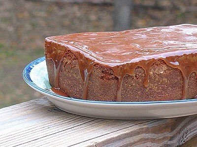 Apple Cider Pound Cake With Caramel Glaze Recipe