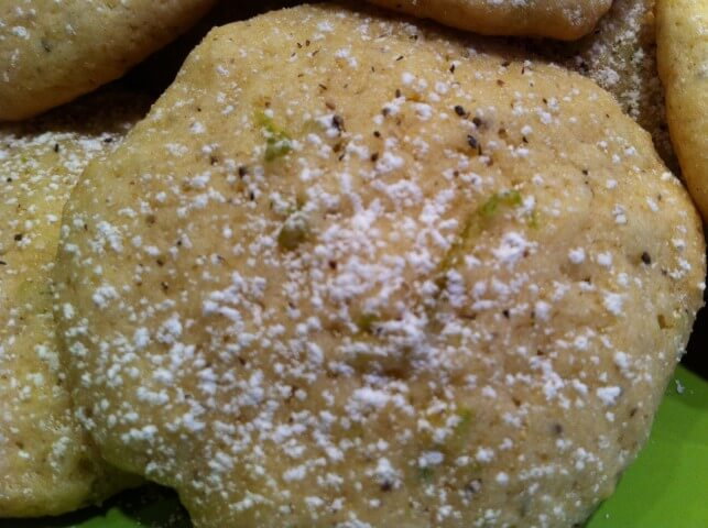 Lime And Black Pepper Cookies Recipe from CDKitchen