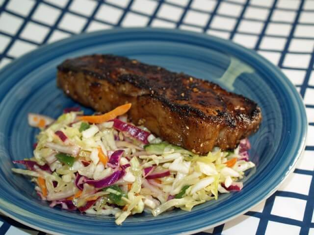 Recipe for Grilled East-West Steak With Jalapeno Slaw