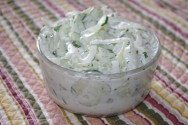Photo of Dilled Sour Cream Cucumber And Onion Salad