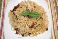 Photo of Fettuccini With Sundried Tomatoes, Pine Nuts And Basil Recipe on CDKitchen