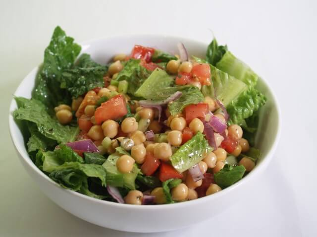 Chick Pea and Red Onion Salad Recipe from CDKitchen