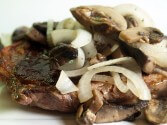 Portobello-Smothered Beef Medallions