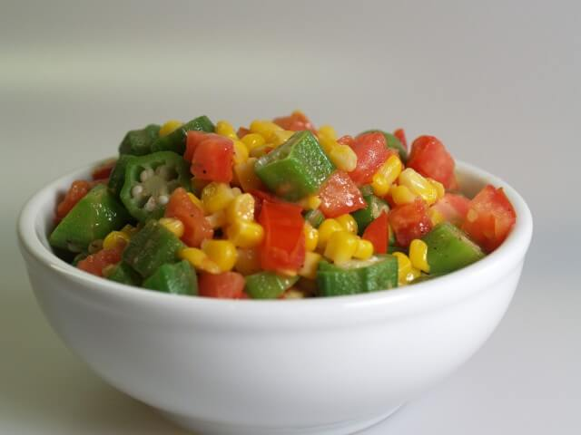 Corn With Okra And Tomatoes Recipe from CDKitchen