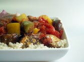Photo of Grilled Vegetables Over Couscous
